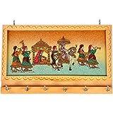 Crafters Handicraft Gemstone Painting Key Hanger (Set Of 6, Cream,HCF213)