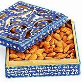 Ghasitaram Blue Shining Badaam Box (Blue,Square)