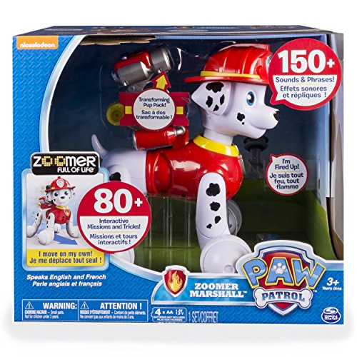 Paw Patrol, Zoomer Marshall, Interactive Pup with Missions, Sounds and Phrases, Multicolor
