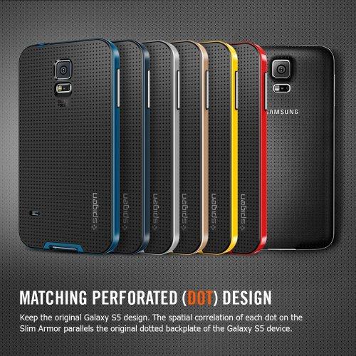 二重構造 Spigen? Samsung 【 Galaxy S5 ケース 】 ネオ ・ ハイブリッド Galaxy SV Galaxy S V TPU ケース + ハード フレーム [国内正規品] (ダンテ・レッド)