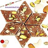 Rakhi Gifts-Ghasitarams Sweets Chocolate Kaju Katli 200 Gms-r2