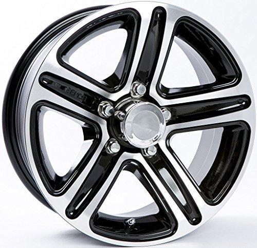 2-Pack Aluminum Trailer Wheel Black Rims 13 x 5 Spoke Style (5 Lug On 4.5″)