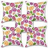 """Colorfull Design 16''x16"""" Inches Set Of Five Cushion Cover By BS"""