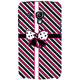 For Samsung Galaxy S3 Mini I8190 :: Samsung I8190 Galaxy S III Mini :: Samsung I8190N Galaxy S III Mini Stripes Pattern ( Stripes Pattern, Pattern, Stripes, Ribbon, Black Background ) Printed Designer Back Case Cover By FashionCops