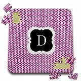 BrooklynMeme Designs - Pink and grey chevron monogram initial D - 10x10 Inch Puzzle (pzl_222040_2)