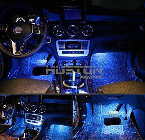 Onepalace 4Pcs Car LED Interior Underdash Lighting Kit Led Car Interior Light Auto Interior Lights Car Auto Interior LED Atmosphere Lights (Blue)