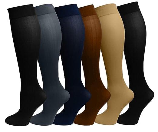 Ladies 6 Pair Pack Compression Socks (Assorted)