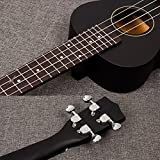 Black Professional 21 inch 4 String Acoustic Soprano Ukulele Electric Guitar Music Instrument Toy for Children