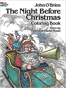 The Night Before Christmas Coloring Book: Clement Clarke ...