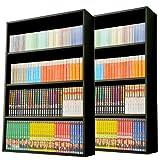 山善(YAMAZEN) 【2個組】 マンガぴったり本棚カラーボックス