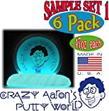 Crazy Aaron's Thinking Putty Mini Tin Gift Set Bundle (Sample Set 1) with Super Scarab, Sunburst, Ion, Super Oil Slick, Chameleon & Exclusive