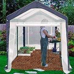 Spring Gardener Gable Greenhouse 6 Feet X 8 Feet X 7 Feet