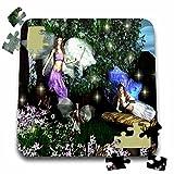 WhiteOak Art Designs Fairy Prints - Magic of Three Sisters Three Fairies - 10x10 Inch Puzzle (pzl_31620_2)