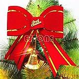 Alcoa Prime New Christmas Festival Bowknot Xmas Tree Hanging Bow Ornament Party Decoration