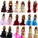 3 Pcs Night Looks Princess Evening Wedding Party Dress Clothes Gown Outfit for Barbie Doll