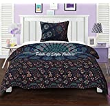 Twin Cotton Mandala Duvet Cover Set Printed Peacock Eye Floral Blue Quilt Cover By Stylo Culture