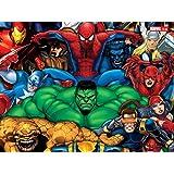 Posterhouzz Marvel Iron Man Captain America Spider-Man Hulk The Thing Cyclops Beast Elekt...Fine Quality Poster