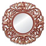 Red Thicket Wooden Wall Jharoka Mirror