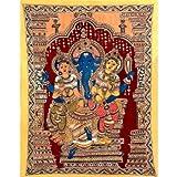Redbag Lord Ganesha With Consorts - Riddhi Siddhi