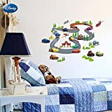 WOW INTERIORS DISNEY (OFFICIALLY LICENSED)- DISNEY CARS ON RACE KIDS ROOM WALL STICKER