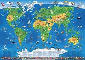 Kinder Weltkarte XXL/1,35 Meter: Amazon.de: Bücher