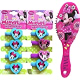 Childrens Minnie Mouse Hair Ponies Set Of 2 With Minnie Mouse Comb Brush