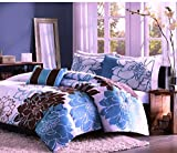Super India Printed Micro Fiber Double Bed Comforter/Quilt set with two pillow cases (Oisis)