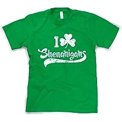 I Clover Shenanigans T-Shirt Funny St Patricks Day Shirt