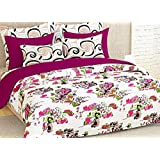Story@Home Elegant Floral Print Double Bedsheet With 2 Pillow Covers 100% Cotton Satin Double Size Printed Bedspread...