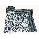 ANSH Jaipuri Handmade Cotton Traditional Design Hand Block Print Quilt-Double Bed