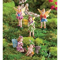 HearthSong Nature Themed Fairies Set of 5 in Girl