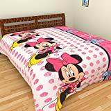 Axcellence Multi Colored Minnie Mouse Poly-cotton Single Bed Kids Reversible Dohar (Ysh39)