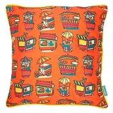 "Chumbak Thela Cotton Cushion Cover - 16"" X 16"", Multicolor"