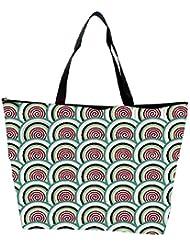 Snoogg Abstract Circles Green Pattern Designer Waterproof Bag Made Of High Strength Nylon