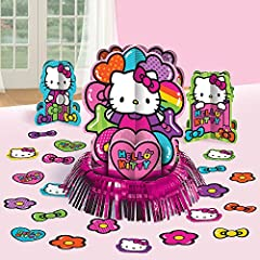 Amscan Hello Kitty Rainbow Table Decorating Kit, Multicolor