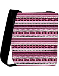 Snoogg Loud Aztec Pink And Black Womens Carry Around Cross Body Tote Handbag Sling Bags