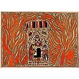 Redbag Worshipping Shiva Linga (76.2 Cm, 55.88 Cm, 0.51 Cm)