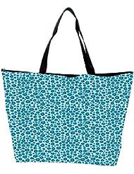 Snoogg Abstract Blue Pattern Design Designer Waterproof Bag Made Of High Strength Nylon - B01I1KMAVC