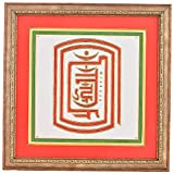 Niru's Namokar Mantra In Om Rihim Shreem Show Piece - (37 Cm X 37 Cm X 2 Cm,Multi Color)