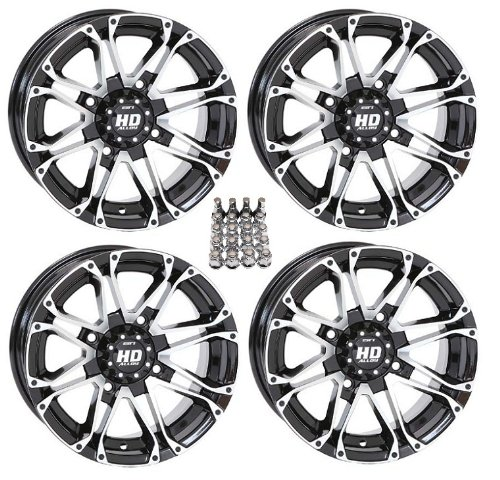 STI HD3 ATV Wheels/Rims Machined 12″ Polaris Sportsman RZR Ranger (4)