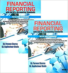 Parveen Sharma Book Financial Reporting with Ind AS & Accounting Standards Set of 2 Vol For CA - Final Applicable For May 2017 Exams