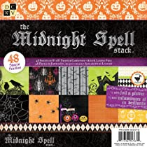 Die Cuts With A View Midnight Spell Halloween Paper Stack with Glitter/Foil