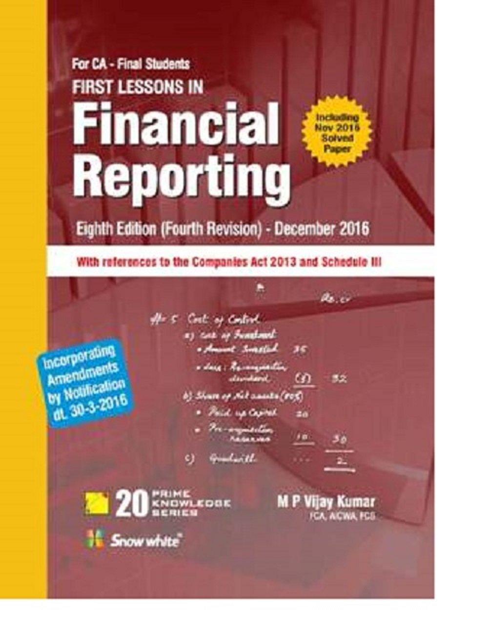 MP Vijay kumar Financial Reporting Book ca final