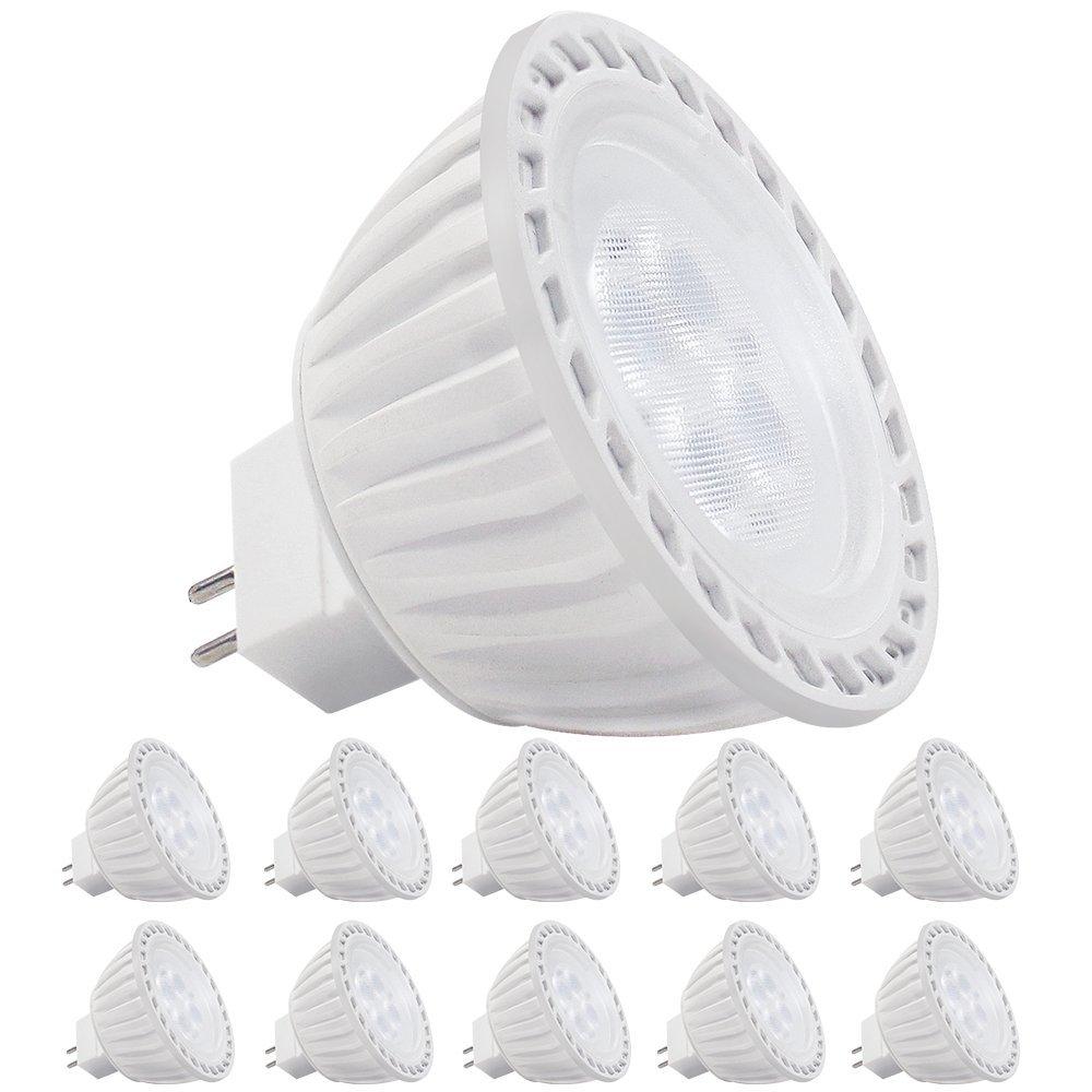 10 pack ac dc 12v 5w mr16 led bulb 50w halogen equivalent 5000k daylight led ebay. Black Bedroom Furniture Sets. Home Design Ideas