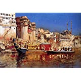 The Museum Outlet - Edwin Lord Weeks - The Barge Of The Maharaja Of Benares - Canvas Print Online (24 X 18 Inch)