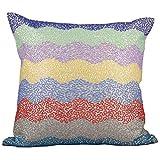 Svisti Raw Silk Single Piece Cushion Cover-Multi, 40.64 Cm X 40.64 Cm - B00N3NZPPQ