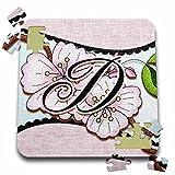 Dooni Designs Monogram Initial Designs - Cherry Blossom Flower Monogram Initial D - 10x10 Inch Puzzle (pzl_102752_2)