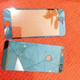 Phone Care Iphone 6 Blue Color STYLISH ZIG-ZAG TEXTURED Tempered Glass Front And Back