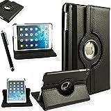 ProElite (TM) 360 Degree Rotatable Smart Flip Case Cover For Apple IPad Mini 2 & Mini 3 (Black) (Auto Sleep/Wake...