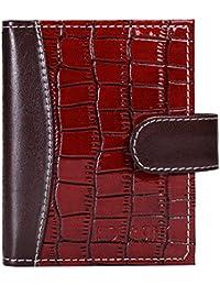 Hide&Sleek Soft Red Hippo Designed Artificial Leather Card Holder